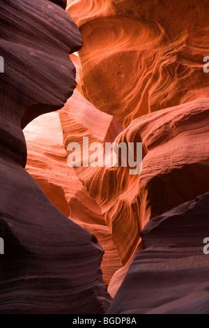 Lower Antelope Canyon in Arizona - Stock Photo