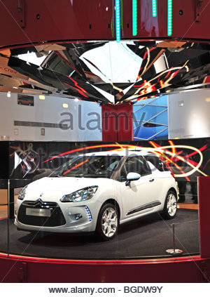 paris france new car showroom toyota car detail gas electric stock photo royalty free image. Black Bedroom Furniture Sets. Home Design Ideas