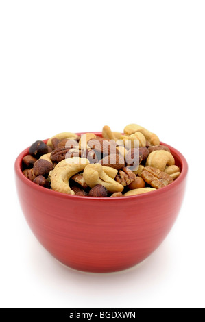 Bowl with mixed salted Nuts - Stock Photo