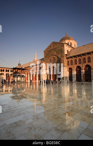 Syria, Damascus, Old, Town, Umayyad Mosque, main courtyard - Stock Photo