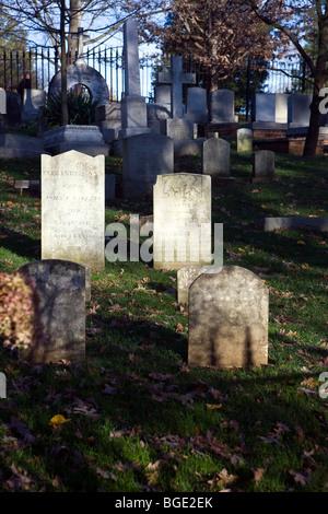 Jefferson family cemetery at Monticello, home of Thomas Jefferson, Charlottesville, Virginia, USA - Stock Photo