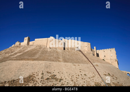 Syria, Aleppo, The Old Town (UNESCO Site), The Citadel - Stock Photo