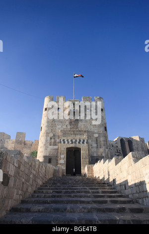 Syria, Aleppo, The Old Town (UNESCO Site), The Citadel - Stock Photo