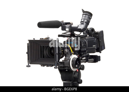 Studio Product Shot of a Prosumer Digital Movie Camera - Stock Photo