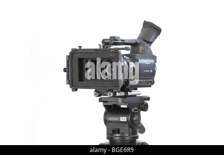Studio Product Shot of a Prosumer Digital Movie Camera. - Stock Photo