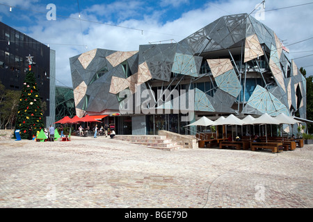 Christmas in Federation Square, Melbourne, Australia - Stock Photo