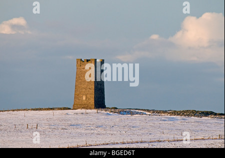 The hilltop Kitchener memorial at Birsay North West Mainland Orkney Highland Scotland.  SCO 5756 - Stock Photo