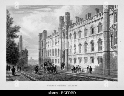 Corpus Christi College, Cambridge - Stock Photo