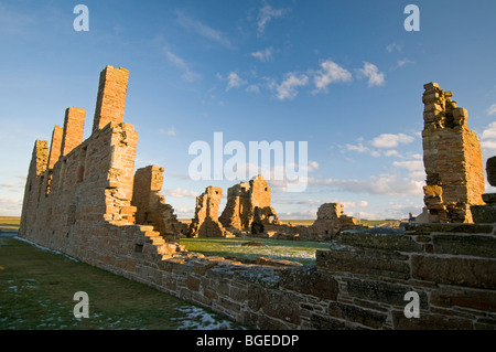 The Ruins of The Earl's Palace at Birsay in the North West corner of Mainland Orkney Scotland.  SCO 5764 - Stock Photo
