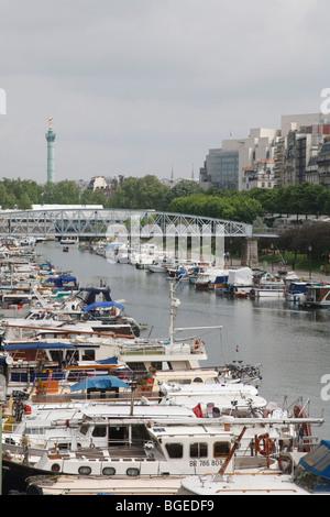 Paris bastille port de la plaisance de paris arsenal marina style stock photo royalty free - Port de l arsenal bastille ...