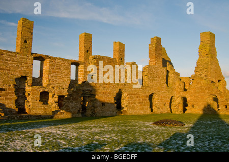 The Ruins of The Earl's Palace at Birsay in the North West corner of Mainland Orkney Scotland.  SCO 5765 - Stock Photo