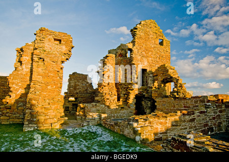 The Ruins of The Earl's Palace at Birsay in the North West corner of Mainland Orkney Scotland.   SCO 5767 - Stock Photo