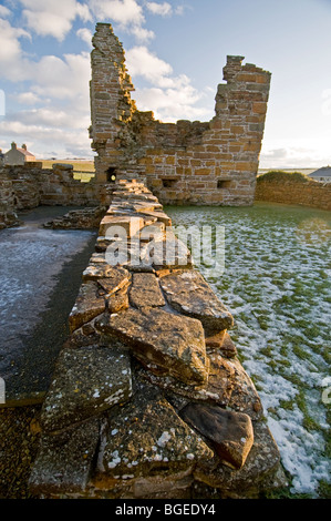 The Ruins of The Earl's Palace at Birsay in the North West corner of Mainland Orkney Scotland.   SCO 5770 - Stock Photo