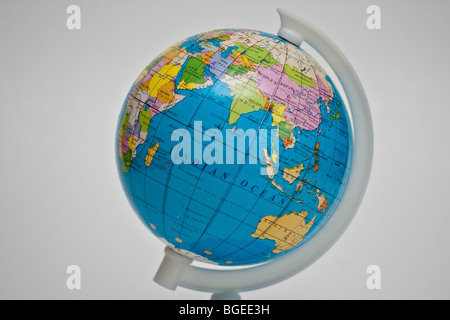 globe showing the indian ocean for geography text book and class - Stock Photo