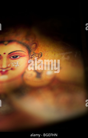 Hindu goddess Lakshmi. Sacred India - Stock Photo