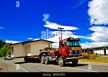 Moving House in Te Anau, Southland, South Island, New Zealand. - Stock Photo