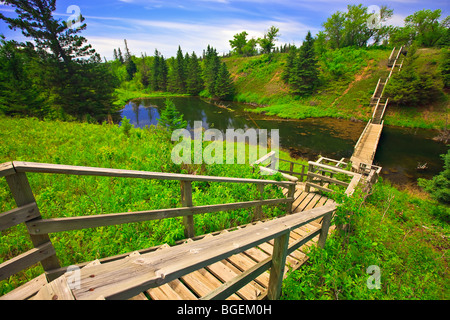 Devils Punch Bowl in the Spirit Sands, Spruce Woods Provincial Park, Manitoba, Canada. - Stock Photo