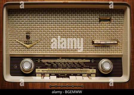 old radio receiver in a museum in Norway - Stock Photo