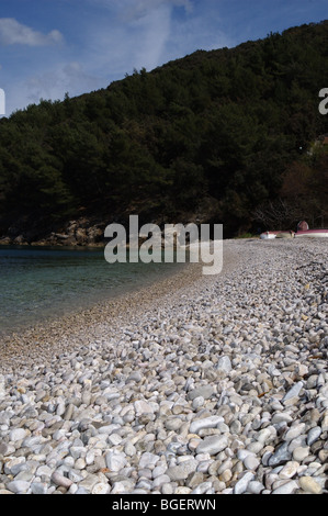 Valun beach, island of Cres, Croatia - Stock Photo