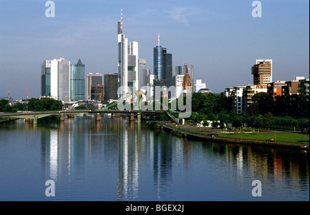 Aug 19, 2009 - Frankfurt am Main skyline. - Stock Photo