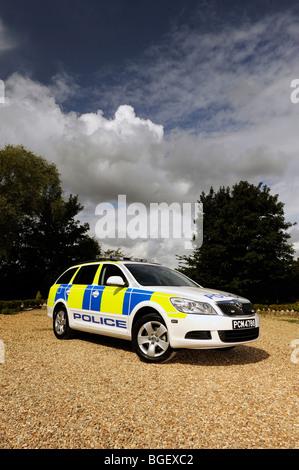 2009 Skoda Octavia estate police car in Trinidad and tobago  trim - Stock Photo
