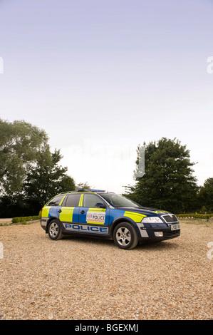Skoda Octavia police estate car - Stock Photo