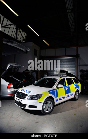 a  2009 Skoda octavia police car  in Trinidad and Tobago trim - Stock Photo