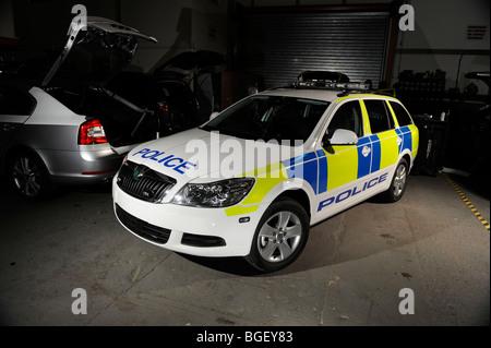 2009 skoda octavia police car in trinidad and tobago trim - Stock Photo