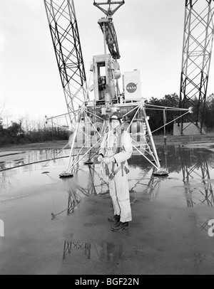 Neil Armstrong at the Lunar Landing Research Facility, Langley, USA - Stock Photo