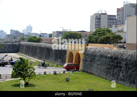 Entrance to old walled city. Cartagena, Colombia - Stock Photo