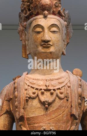 Standing Bodhisattva, Northern Qi dynasty (550-77), Metropolitan Museum of Art - Stock Photo