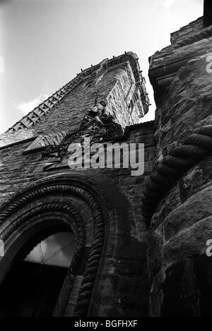 National Wallace Monument  - Wallace Monument - tower standing on the summit of Abbey Craig - Stirling - Scotland - Stock Photo