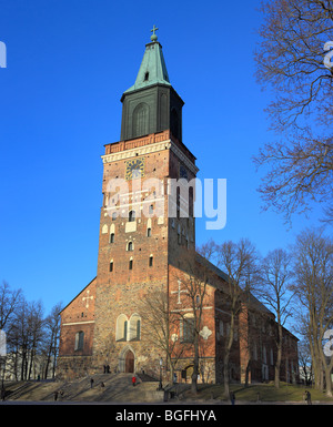 Turku Cathedral (1300), Turku, Finland - Stock Photo