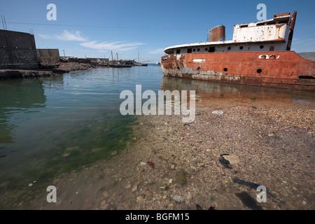 Old port in Gonaives, Artibonite Department, Haiti - Stock Photo