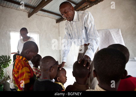Pentecostal church service, Kilimanjaro Region, Tanzania, East Africa. - Stock Photo