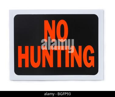 No Hunting Sign - Stock Photo