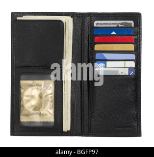 Billfold credit card holder wallet - Stock Photo