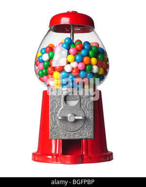 Bubble Red Gum Machine - Stock Photo