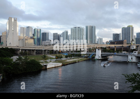 Miami River, Florida USA - Stock Photo