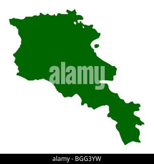 Armenia map isolated on white background. - Stock Photo