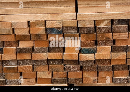 Wood and fencing supplies - Stock Photo