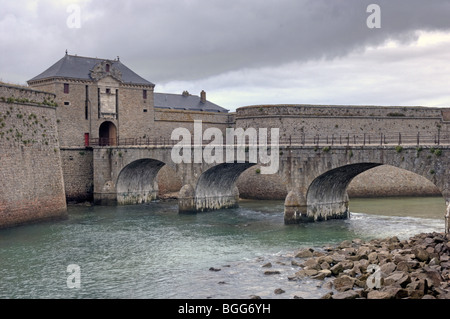 Citadel of Port Louis in the Morbihan (56) departement of France. - Stock Photo