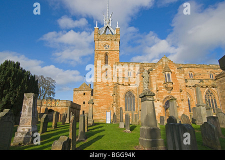 Linlithgow Palace, St Michael's parish, graveyard, church, Stirlingshire, Scotland, October, 2009 - Stock Photo