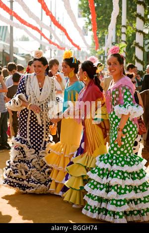 Real de la Feria de Abril de Sevilla Andalucía España April fair in Seville Andalusia Spain - Stock Photo