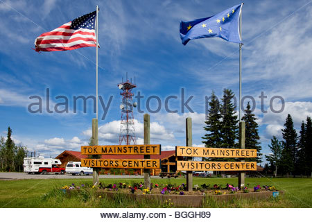 Alaska, Tok. Visitor's Center. DM - Stock Photo