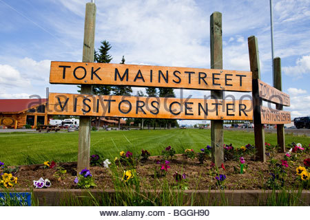Alaska, Tok. Visitor's Center. - Stock Photo