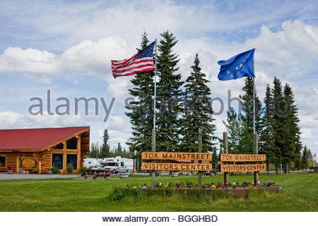 Alaska, Tok. Visitor's Center. - Stock Photo