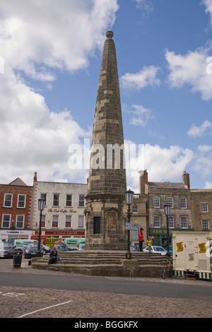 Richmond United Kingdom England GB Market square and The Obelisk  - Stock Photo