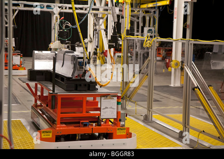 General Motors manufacturing plant for the battery pack for the Chevrolet Volt electric car - Stock Photo