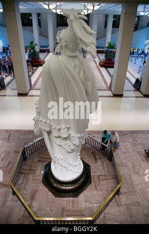 Rear view of Statue of Freedom at the U.S. Capitol Visitors Center, Washington, D.C. - Stock Photo